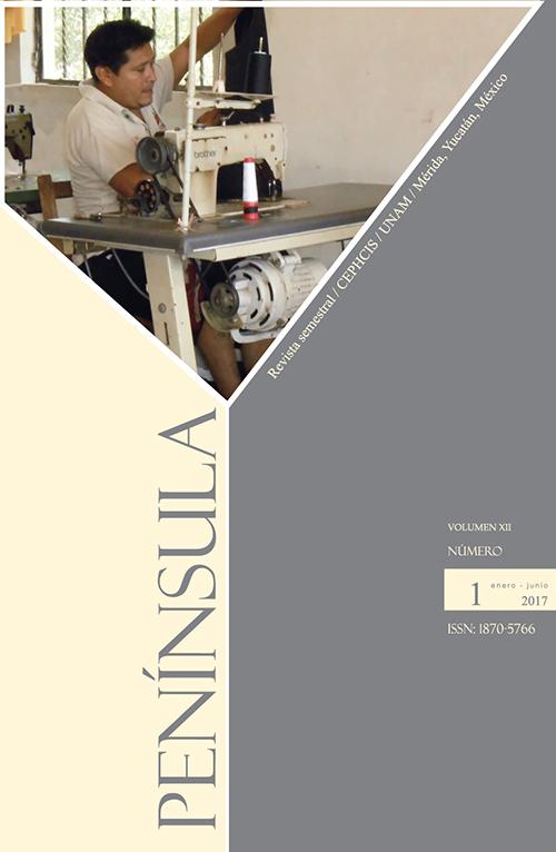 Portada de la revista Península, volumen XII, número 1, 2017